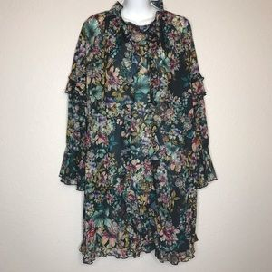 H & M sheer floral dress size 10 NWT